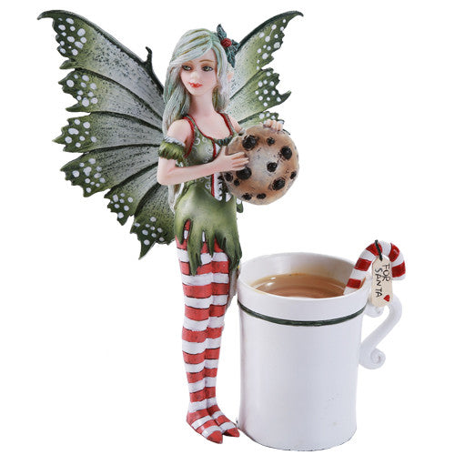 Pacific Giftware Amy Brown Chrismas Cup Fairy Dragon Fantasy Art Figurine Collectible 5.75 inch