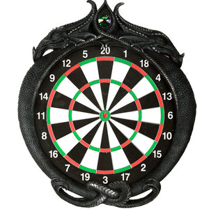 Double Dragons Wall Mount Dart Board Game with Darts Wall Sculpture Decorative Dart Board Game