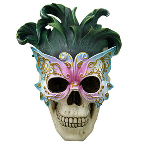 Masquerade Butterfly Ball Mask Skull Collectible Skull Decor Mardi Gras