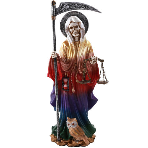 Pacific Giftware Santa Muerte Saint of Holy Death Standing Religious Statue 10 Inch Seven Powers (Rainbow)