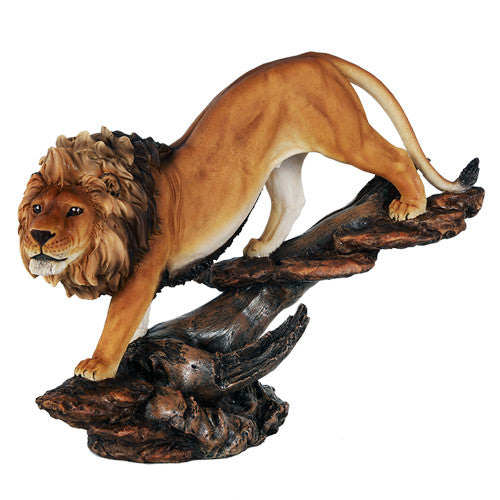 "12"" Prideful king of The Jungle Savannah Lion Wildlife Home Figurine Pride Land"