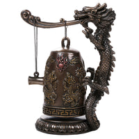 Fengshui Oriental Dragon Gong Bell Replica Decorative Statue