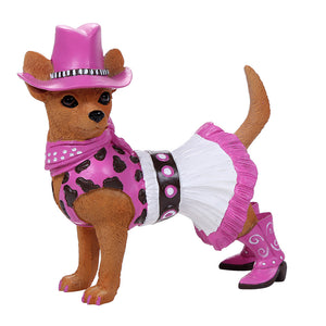 Adorable Western Cowgirl Chihuahua Collection Cute Chihuahua In Costume Dog Collectible