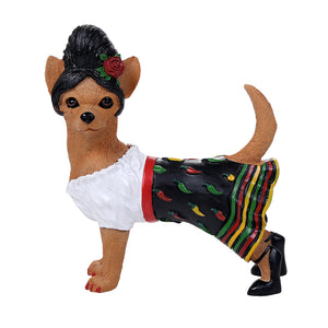 Adorable Red Hot Chili Senorita Chihuahua Collection Cute Chihuahua In Costume Dog Collectible