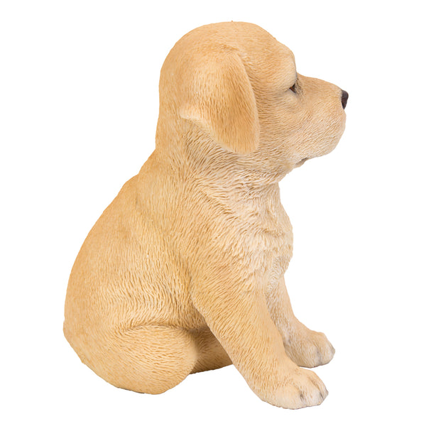 Pacific Giftware Adorable Seated Yellow Labrador Puppy Collectible Figurine Amazing Dog Likeness Hand Painted Resin 6.5