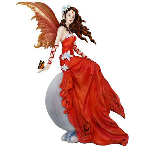 Crimson Lilly Red Moon Fairy Statue Butterfly Nene Thomas Collection