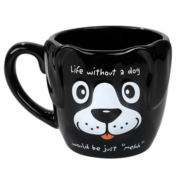 Adorable Black Pet Puppy Coffee Tea Mug Life Without A Dog