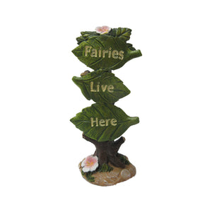 Fairies Live Here Sign Statue