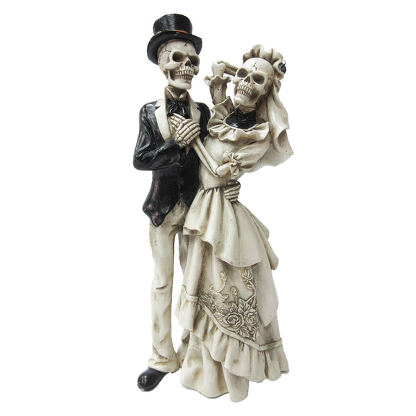 Day of the Dead Skeleton Dancing Wedding Couple Statue Figurine Love Never Dies