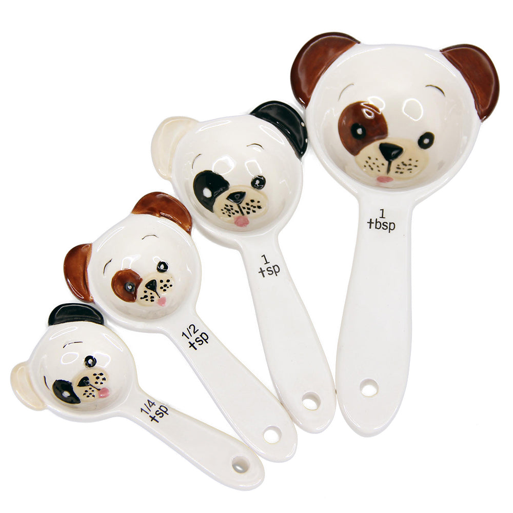 Stackable Cute Puppies Measuring Spoon Set of 4 Pups
