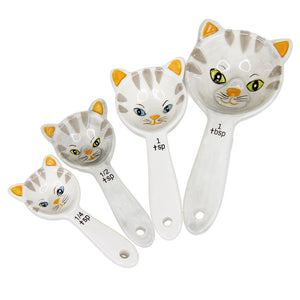 Cute Kittens Measuring Spoon Set of 4 Cats Kitchen Decor
