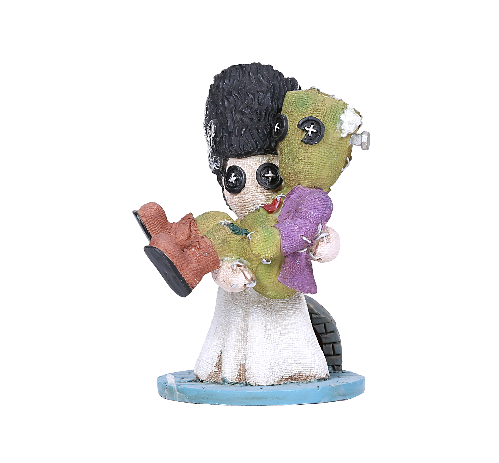 Pinhead Monsters Couple Frankenstein Bride Monster Doll Figurine Statue Wedding Zombie