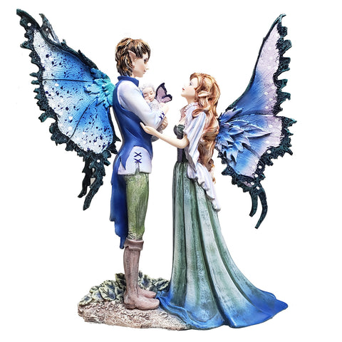 Faerie Family Statue by Amy Brown Couple Baby Fairy Figurine