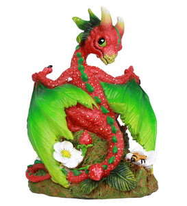 Strawberry Red Dragon Statue by Stanley Morrison Strawberry Vine Seeds