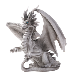 Checkmate White Mate Silver Mystical Dragon by Ruth Thompson Home Decor