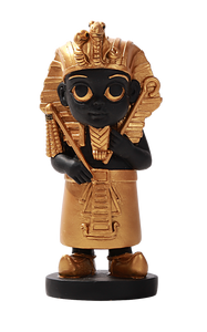 Ancient Egyptian Hieroglyph Baby Mini King Tut God Figurine Tutankhamun