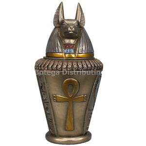 Ancient Egyptian Canopic Jar Duamutef Anubis God Of Protection Keepsake Stomach