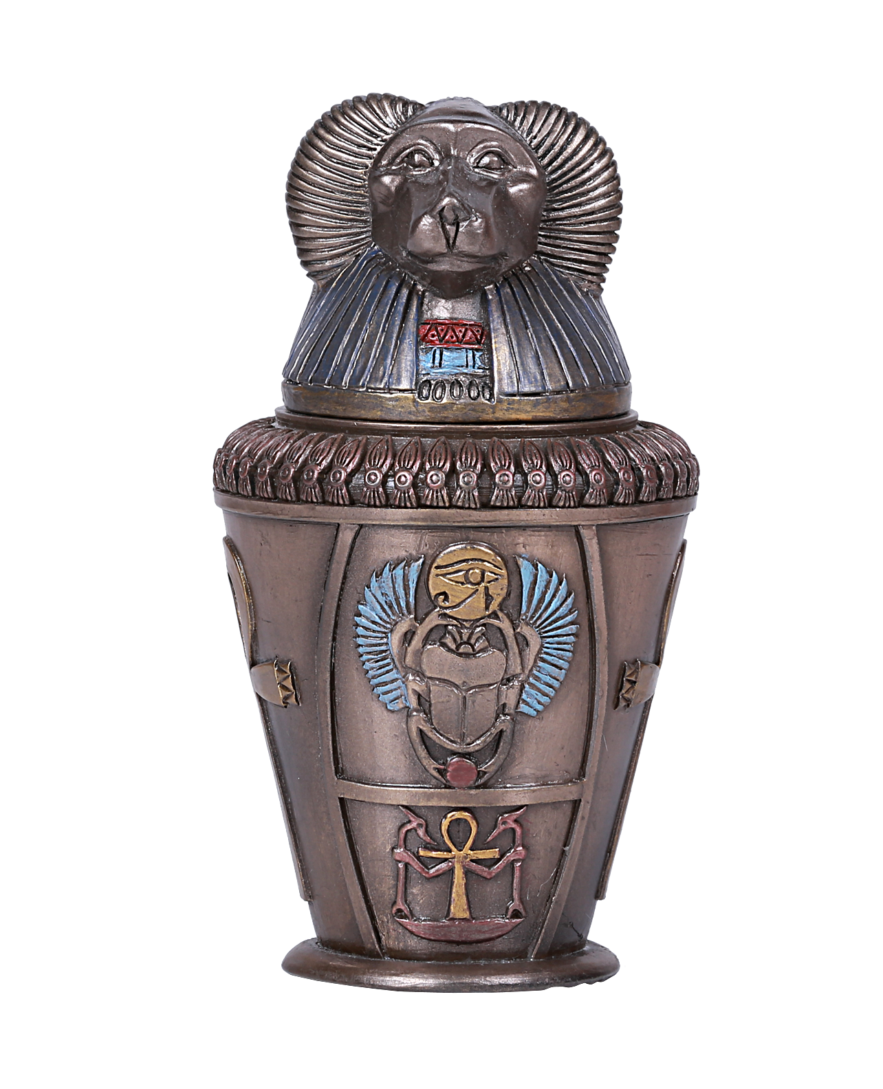 Ancient Egyptian Canopic Jar Hapy Baboon God Of Protection Keepsake Lung