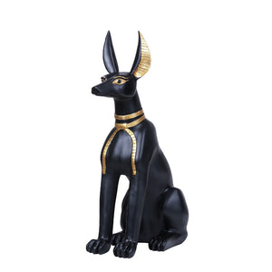 "Ancient Egyptian Inspired Sitting Anubis God of Underworld Collectible Figurine 21""H"