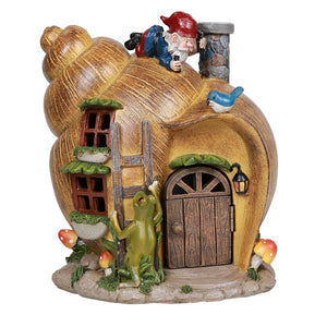 Pacific Giftware PT Gnome Shell Shape House Decorative Garden Decor Statue