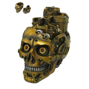 Steampunk Gear Skull Holder Box Trinket Container Mechanical