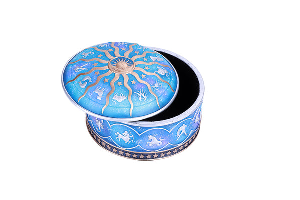 Zodiac Astrological Diagram Horoscope Jewelry Decorative Resin Box