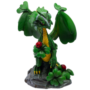 Pacific Giftware Dragon Fantasy Lucky Clover Dragon Resin Figurine