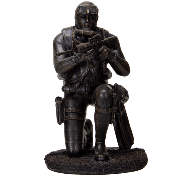 Pacific Giftware America's Finest Brave Soldier Checking Surrounding Military Heroes Collectible Figurine