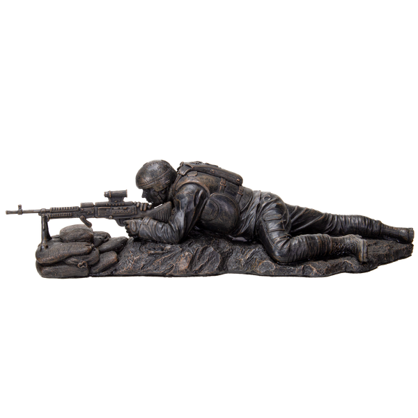 Pacific Giftware America's Finest Brave Soldier Laying Low Military Heroes Collectible Figurine