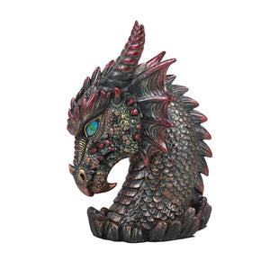 Medieval Dragon Head Bust Resin Figurine Decorative Home Decor Statue