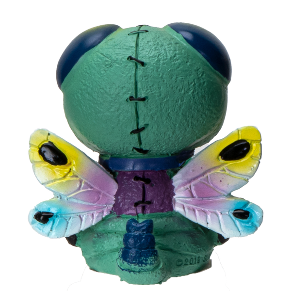 Furrybones Summit Collection Dragonfly Tombo Figurine Decorative Signature Skeleton in Colorful Dragonfly with Cute Wing