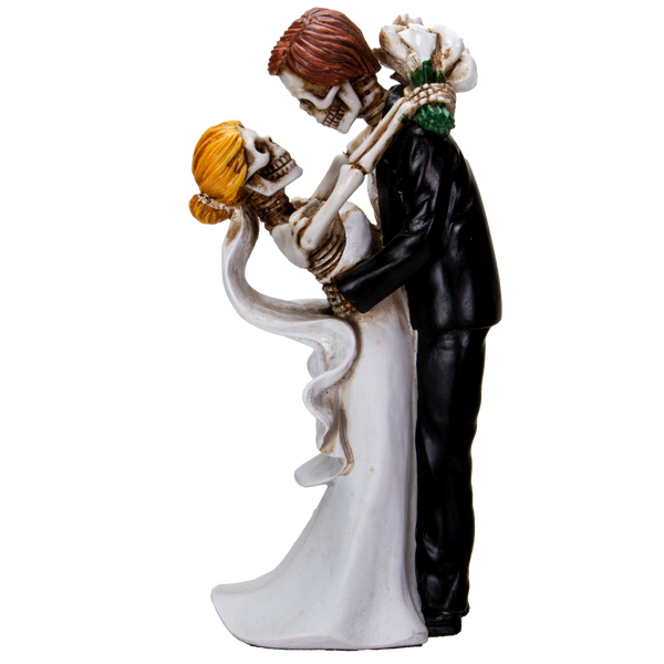 Love Never Dies Bride & Groom Lovingly Embrace Wedding Couple Resin Figurine