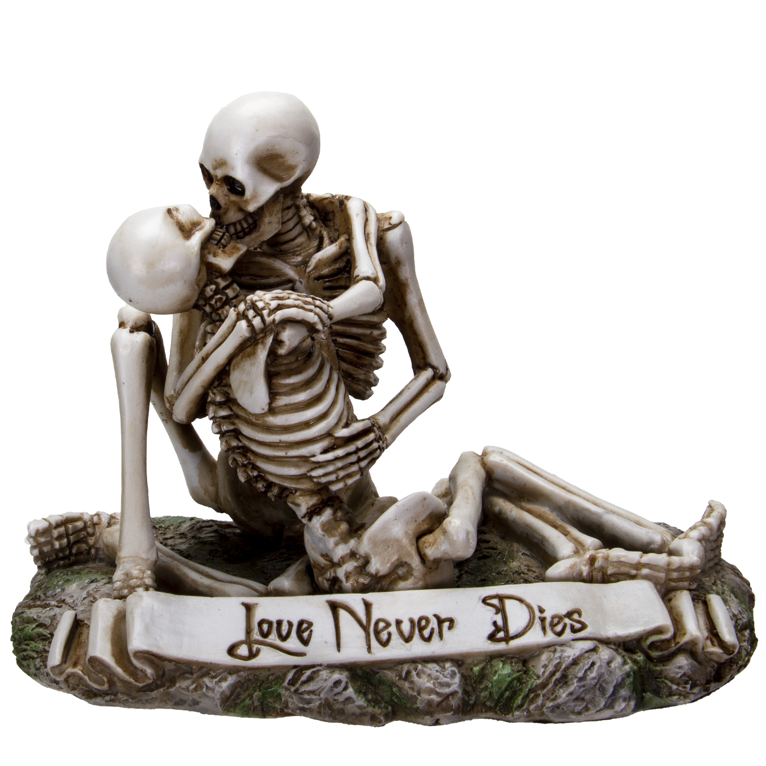 Love Never Dies Couple Sharing Affectionate Kiss Resin Collectible Figurine