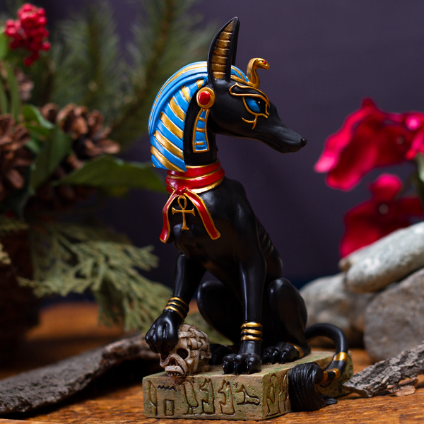 Pacific Giftware Ancient Egyptian God Anubis Sitting Pose Resin Figurine