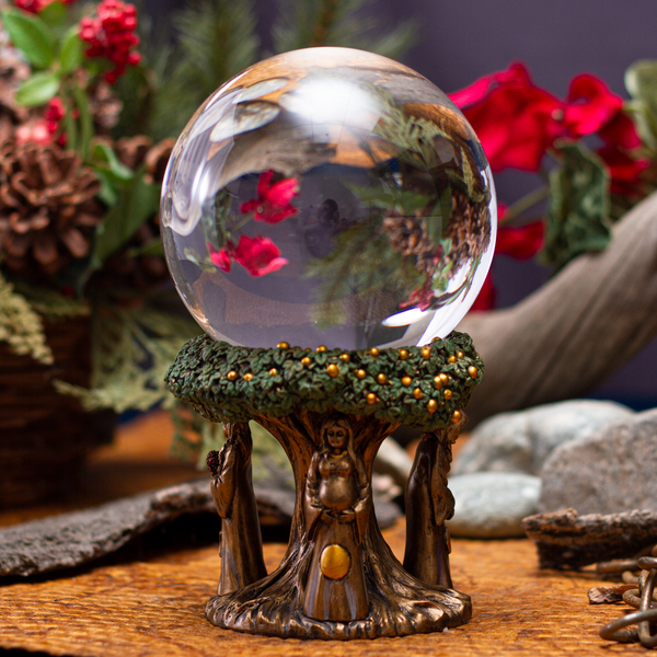 Pacific Giftware Mother Maiden Crone Gazing Glass Ball Resin Figurine