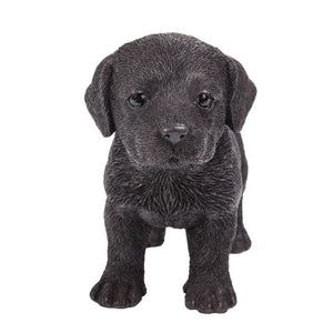 Realistic Chocolate Labrador Puppy Resin Figurine