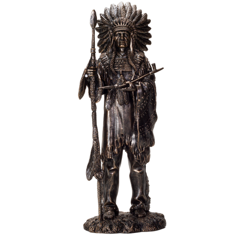 Indian Native American Sculpture Resin Collectible Figurine Statue