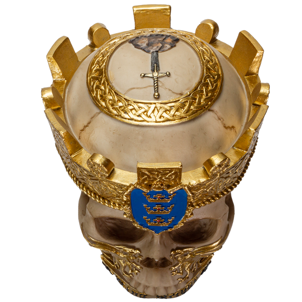 The Knights of The Round Table King Arthur Skulls Resin Skull Figurine