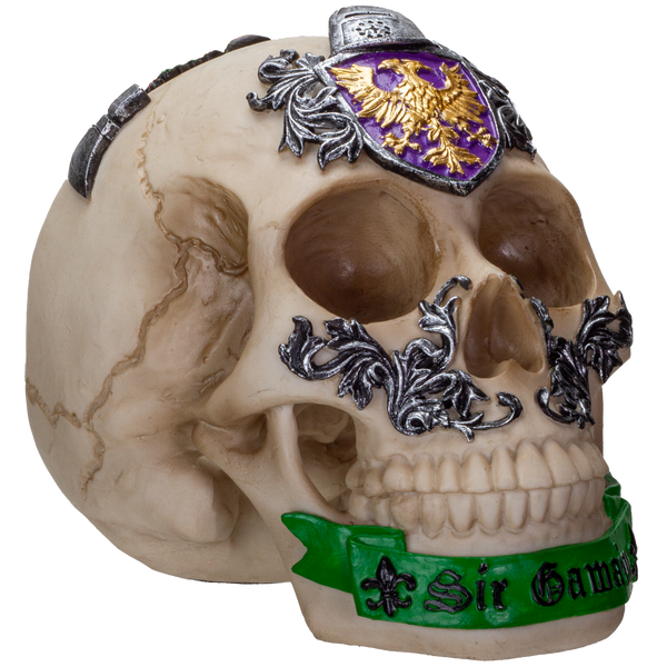The Knights of the Round Table King Arthur's Knight Skulls Sir Gawain Resin Skull Figurine