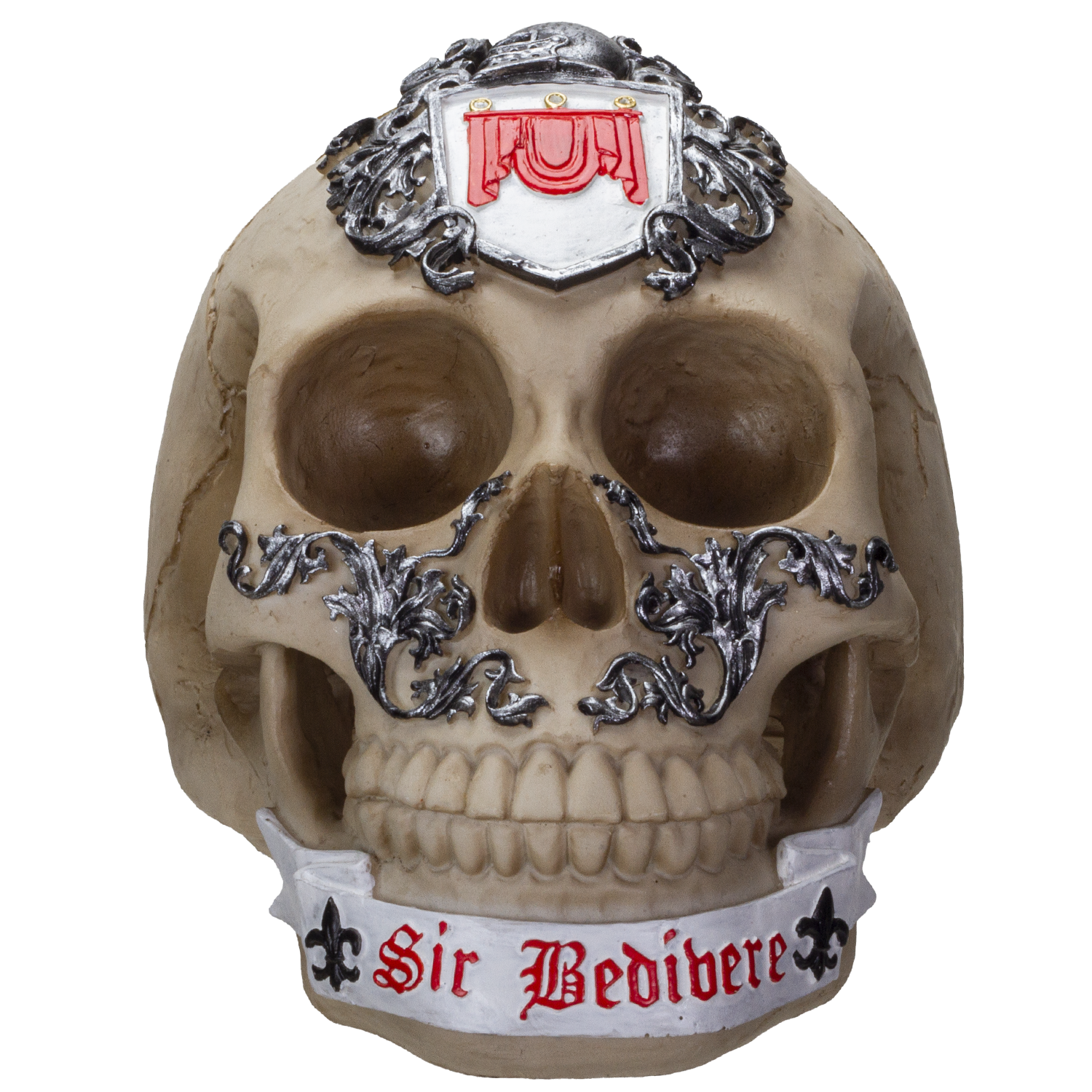 The Knights of the Round Table King Arthur's Knight Skulls Sir Bedivere Resin Skull Figurine