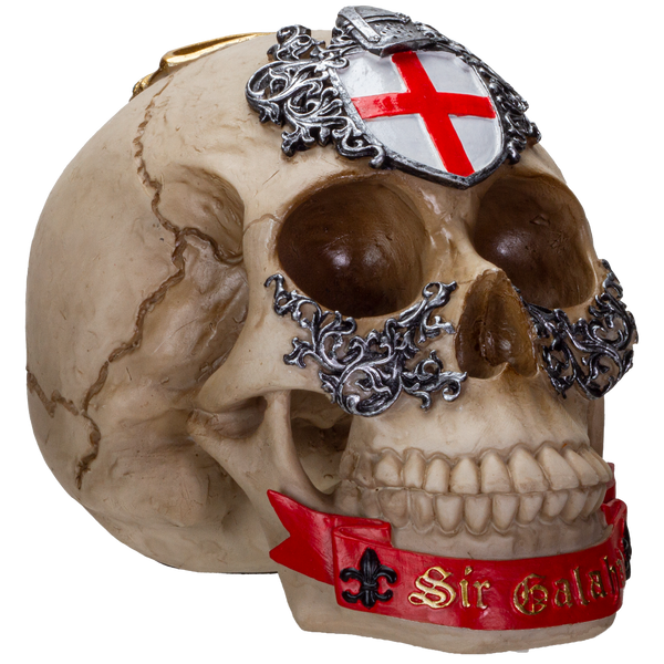 The Knights of the Round Table King Arthur's Knight Skulls Sir Galahad Resin Skull Figurine