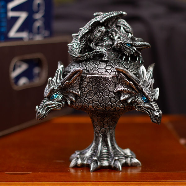 Fantasy Myths Legends Dragon Heads Dragon Baby Perching on Box Jewelry Trinket Box Figurine