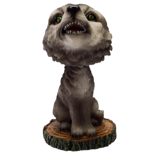 Pacific Giftware Howling Wolf Bobble Head Resin Figurine