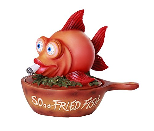 """SOooo Fried"" Stoned Weed Smoking Fish Stash Box Novelty Trinket Box"