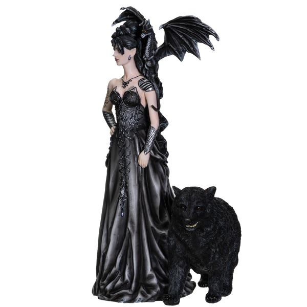 Nene Thomas Collection Mistress of Lycani with Winged Dragon and Bear Resin Figurine Statue