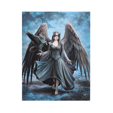 "Fantasy World Raven Gothic Picture Canvas Framed Wall Art Wall Plaque -7.5""W x 9.85""H"