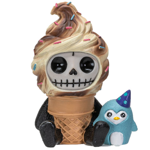 Furrybones Summit Collection Softo Figurine Decorative Signature Skeleton Ice Cream Cone Costume 3 Inch Tall Collectible Statue