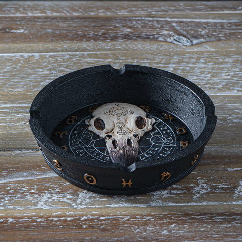 Raven Skull Ouija Decorative Home Decor Ashtray