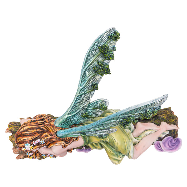 Sleeping Beauty Fairy in Forest Collectible Home Decor Figurine