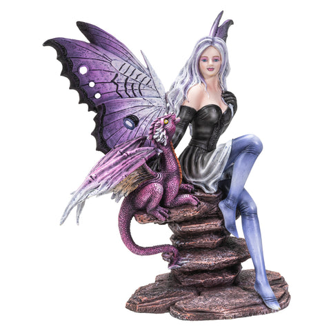 Fairyland Butterfly Fairy with Guardian Dragon Home Decor Figurine